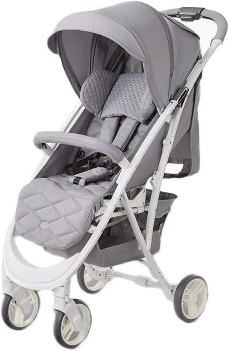 ベビージョガー市ベビーカー、ベビーカーベビーカー軽量ベビーカー、傘ベビーカー赤ちゃんベビーカー (Color : Gray, Size : One size)