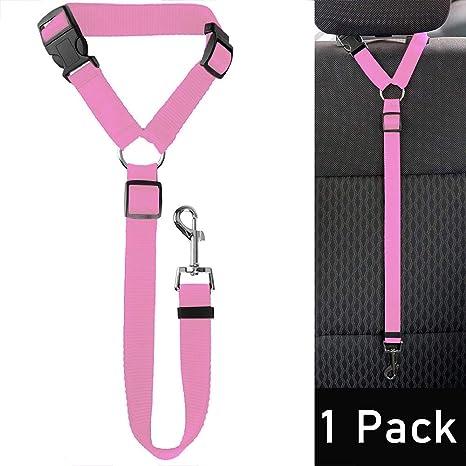 LKY Cinturón de Seguridad para Perro, Ajustable, Duradero, para ...