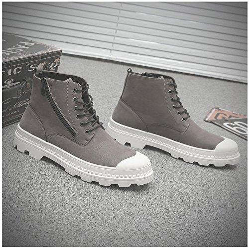 per scarpe HL Stivali Gli alta grigio di Martin's Stivali Match PYL Stivaletti All di uomini 38 qaxT4S