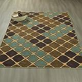 Ottomanson Studio Collection Squares Design Area Rug, 3'3″ X 5'0″, Multicolor