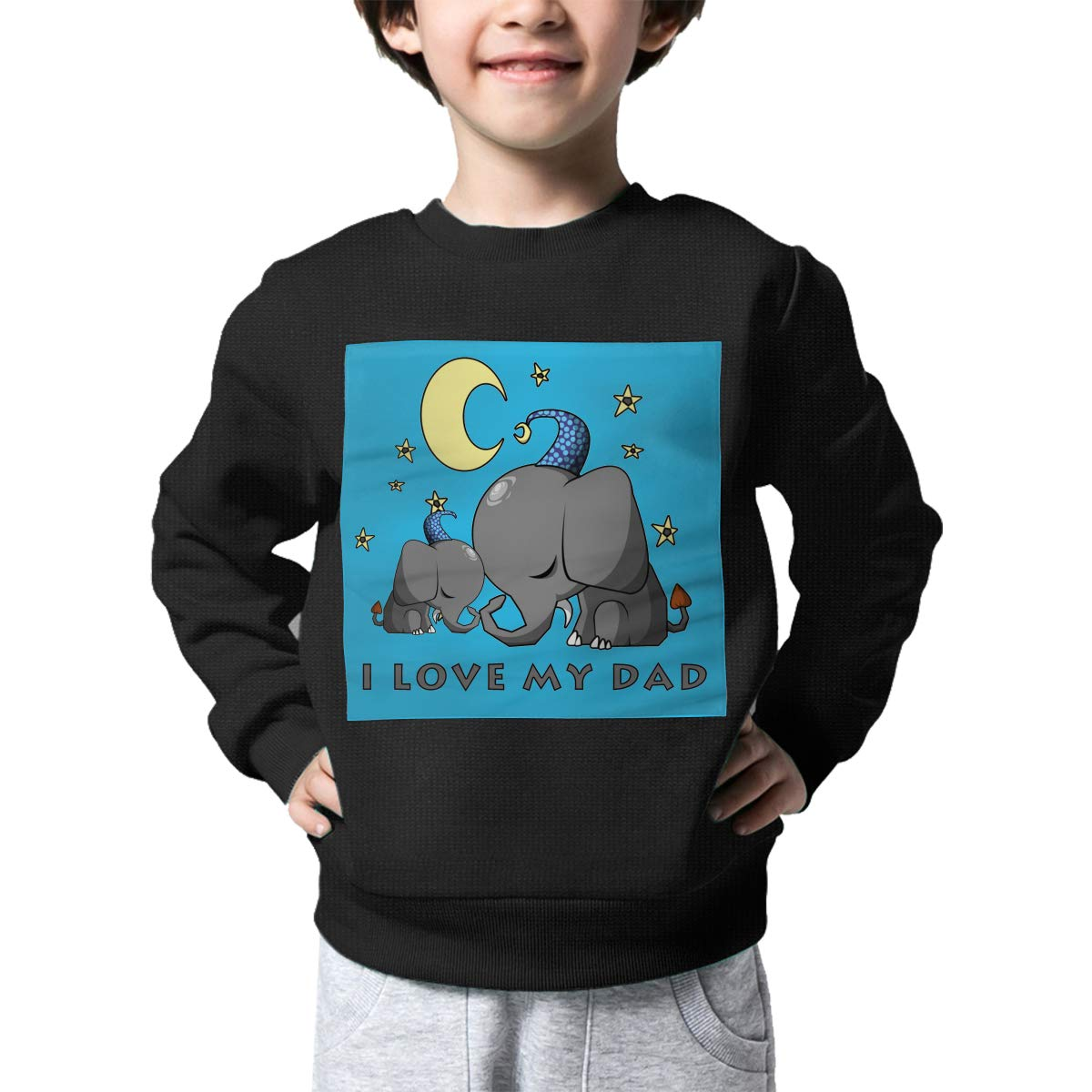 Rainbowhug Elephant I Love My Dad Kids Sweater Ugly Warm Sweater Toddler for Girls Boys