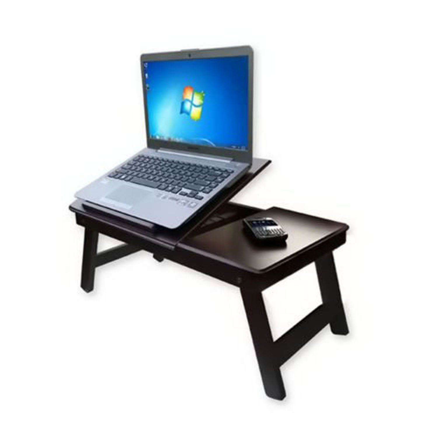 Artesia Wooden Laptop Table Foldable Amazon Electronics