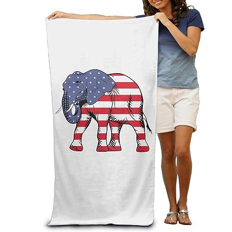 Elefante de la bandera americana hombre de toallas de playa toallas de baño toallas de baño