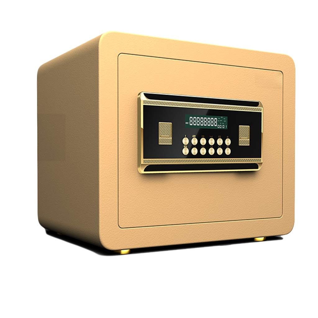 Safes Boxes & Organisers Safety Furniture Built-in Alarm Wall Fixed Installation Digital Key 353030cm (Color : Gold) by Safes