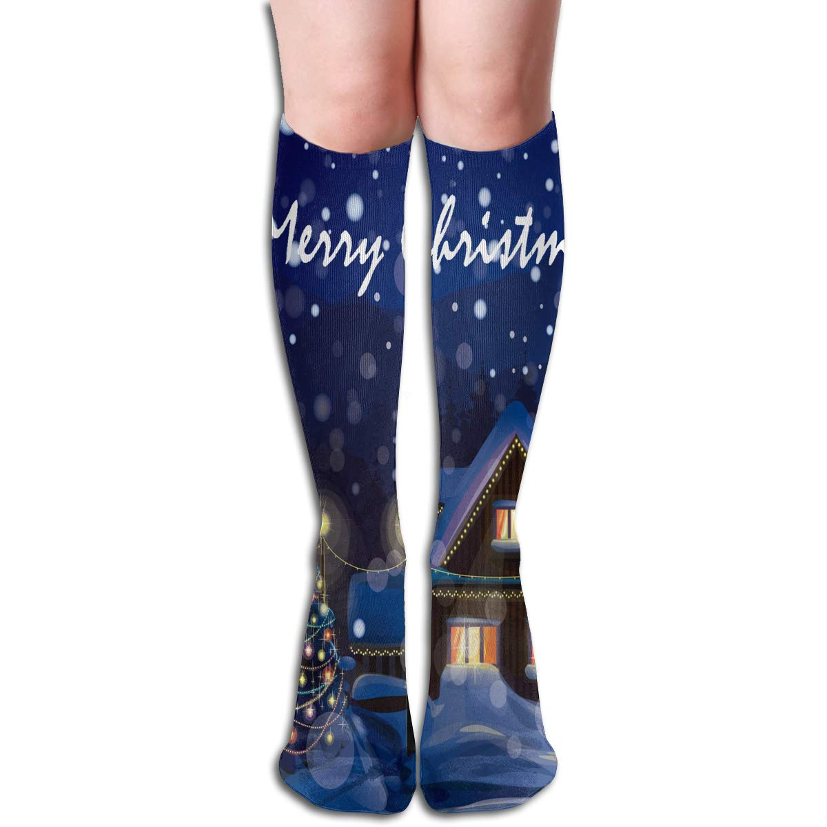Women Socks Mid-Calf Christmas Mystery Gift Winter Warmth Personalized For Festive