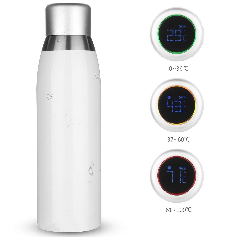 camping yoga adultos y ni/ños gimnasio Botella de agua inteligente al aire libre Recipiente para bebidas con pantalla t/áctil LCD ideal para correr oficina