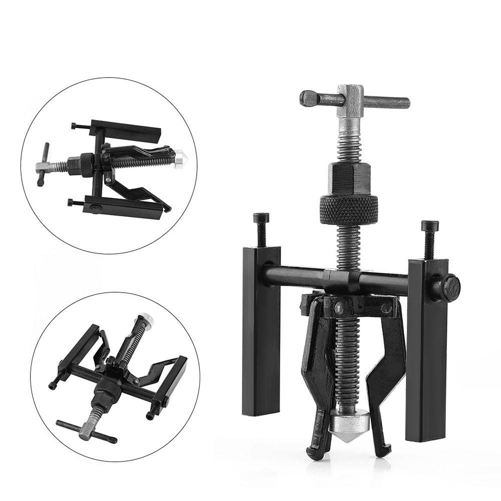 Carbon Steel 3-Jaw Pilot Inner Bearing Puller Tool Kit Heavy Duty Automotive Manual Machine Extractor 3 Jaw Universial Bearing Puller Gear Extractor
