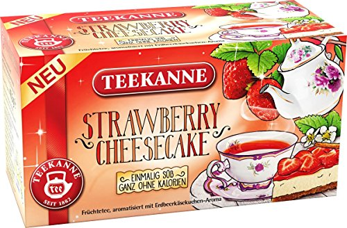Teekanne Strawberry Cheesecake Fruit tea with strawberry and cheesecake flavor (2 x 18 Bags)