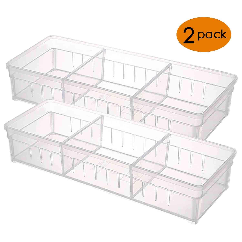 Anumit Schublade Organizer, Klar Kunststoff Schubladen mit 2 ...