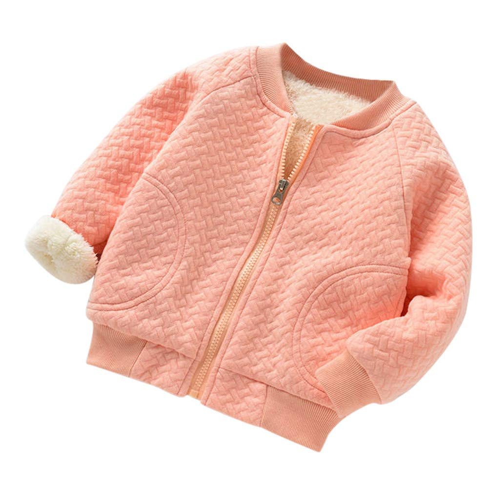 FIged Baby Outwear Solid Zip Long Sleeves Warm