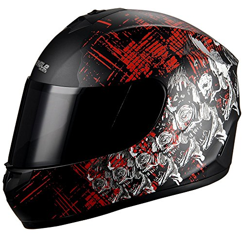 Triangle-motorcycle-Street-Bike-Smoked-Visor-Full-face-helmet-DOT