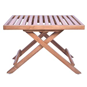 Plantex Folding Wooden Table/Outdoor Table with Teakwood Polish