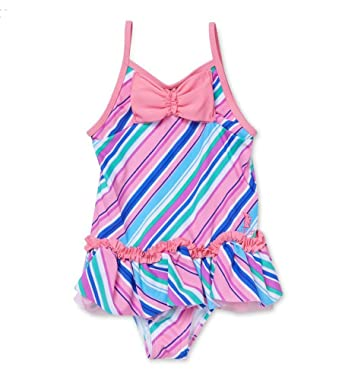 58ab35a4319 Amazon.com: Juicy Couture Girls One Piece Ruffle Striped Bow ...