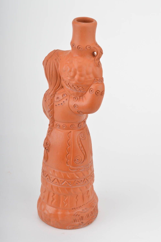 Botella de arcilla roja artesanal para vino y otras bebidas original bonita: Amazon.es: Juguetes y juegos