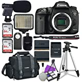 Canon EOS 7D Mark II Digital SLR Camera Body + 2x Sandisk 64GB SDHC Memory Cards + Accessory Bundle