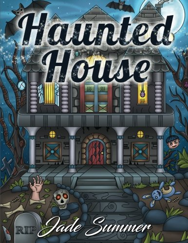 Graphic Design Halloween - Haunted House: An Adult Coloring Book with Gothic Room Designs, Halloween Fantasy Creatures, and Relaxing Horror Scenes