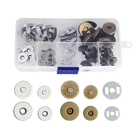 CODIRATO 20PCS Botónes Magneticos 14/18 mm Cierre Magnético de Aleación de Zinc Cierres de