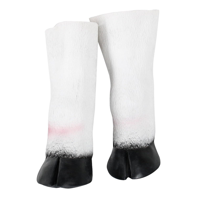 Amazon.com: Latex Unicorn Horse Hooves Gloves Halloween Party ...
