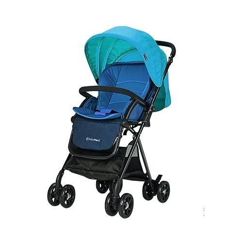 &Carrito de bebé Cochecito de bebé puede sentarse mentira pequeño peso ligero plegable simple niño paraguas
