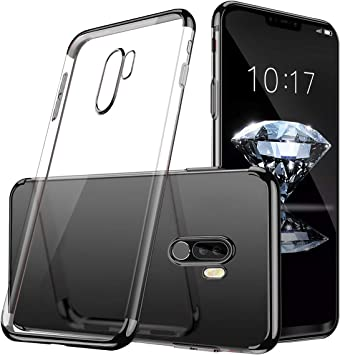 Haobuy Xiaomi Pocophone F1 Case, [Ultra Thin] [Electroplated Frame ...
