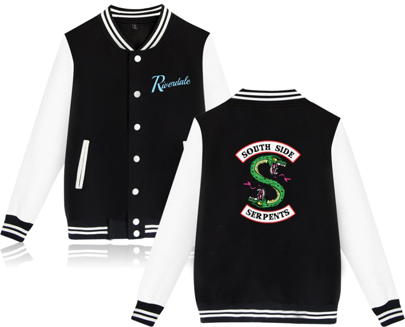 SERAPHY Unisex Riverdale Pullover Southside Serpent Jacket Black S by SERAPHY