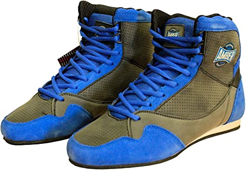 Amber Fight Gear TrainMaxxe v1.0 Half Height Mid Height Low Top Boxing or Wrestling Shoes Boxing Boots Training Sport Shoes Trainer
