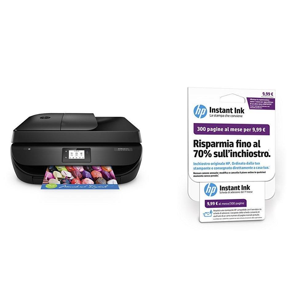 HP OfficeJet 4657 Stampante Multifunzione con 3 Mesi di Prova Gratuita del Servizio Instant Ink V6D29B#BAW