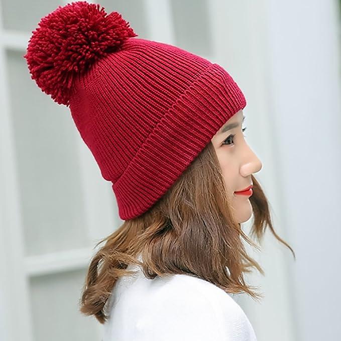 HAKN Cappello caldo del cappello di inverno di inverno di inverno di lavoro  a maglia Cappello caldo degli sport esterni protegge il cappello delle  orecchie ... b02b52983b2b