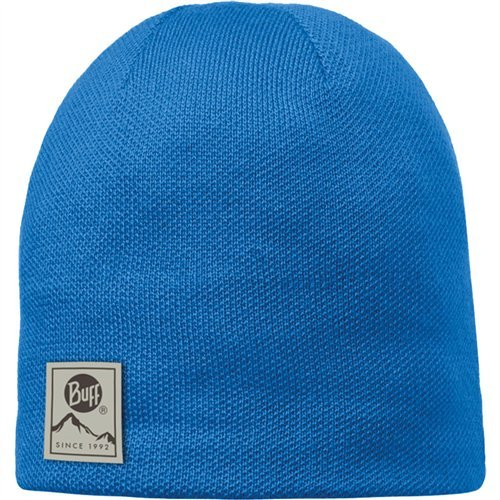 Buff Knitted & Polar Hat Blue