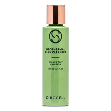 CIRCCELL Geothermal Clay Cleanser – Detoxifying Hydrating Formula – Use as Clay Mask or Cleanser – Good for All Skin Types – 120 ml – Vegan Cruelty Free