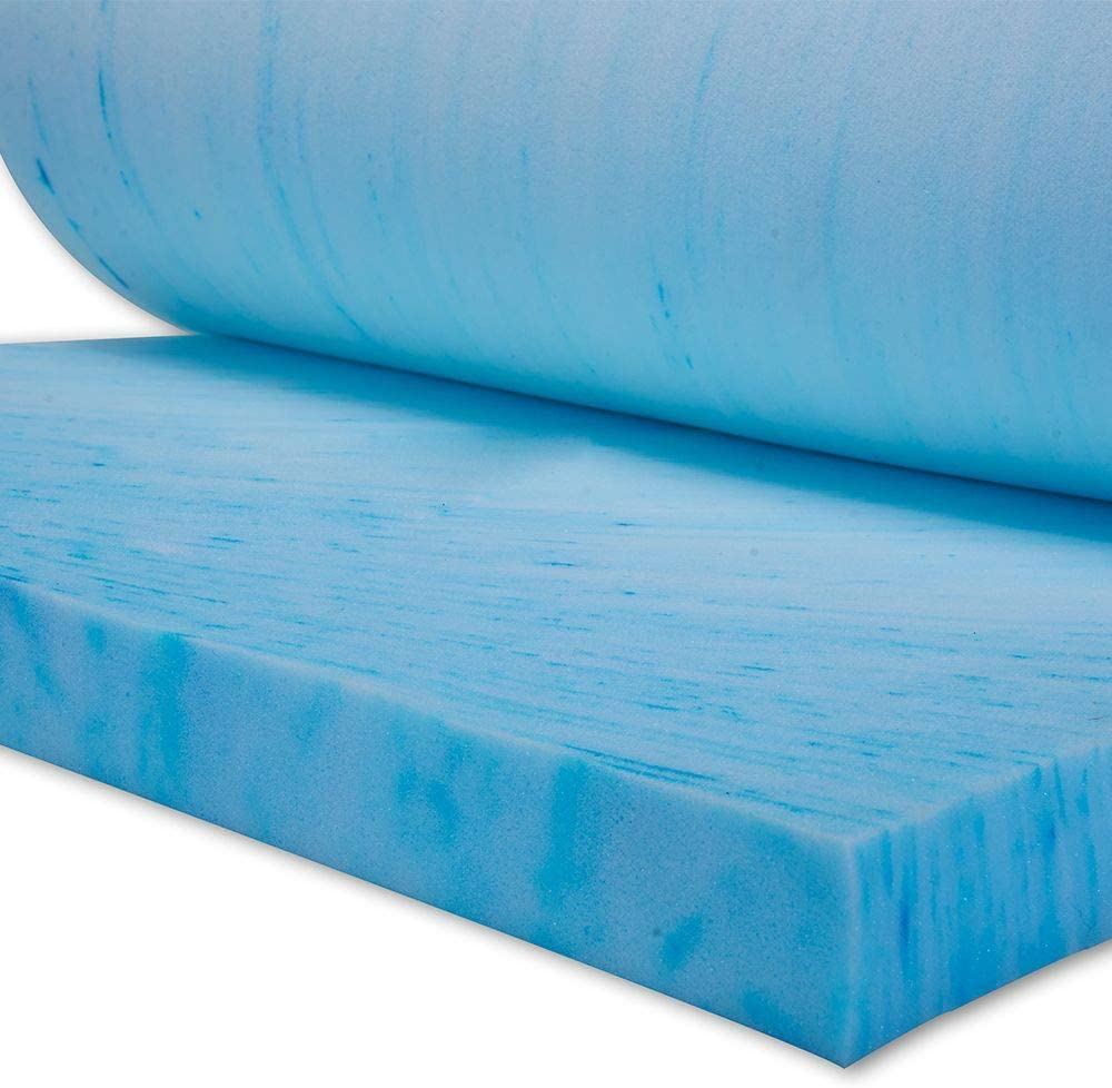 "OCM 2.5"" Thick Ultimate Gel Flex Memory Foam Mattress Topper Pad for Twin XL College Dorm Mattress"