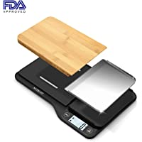 NUTRI FIT Food Scale with Removable Cutting Board & Tray-3 in 1 Digital Kitchen Scale, LCD Display, 11lb 5kg, Easy for Cooking & Clean by Nutrifit