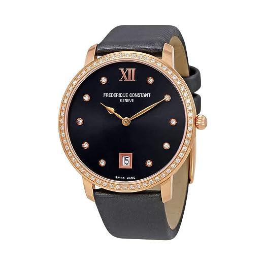 Frederique Constant Slimline Reloj de Mujer Diamante Cuarzo 37mm FC-220G4SD34: Frederique Constant: Amazon.es: Relojes