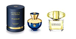 Dylan Blue By Versace Eau De Parfum For Women, 100 ML With Yellow Diamond By Versace Eau De Toilette For Women, 50 ML