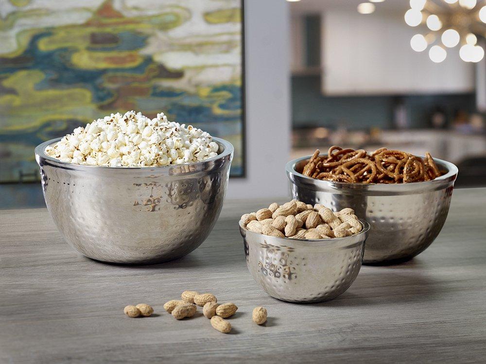 BirdRock Home Nesting Stainless Steel Serving Bowl Set | Includes 3 Bowls