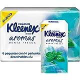 Kleenex Pañuelos Faciales Aromas, 6 Sellapacks Con 14 Piezas De Doble Hoja, Aroma Menta Fresca