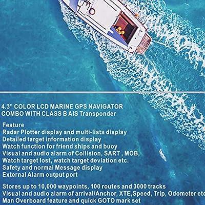 Matsutec HP-528a 4.3 Inch Color LCD Clase B AIS Transpondedor Combo Alta Marine GPS Navigator Marina de Navegación: Amazon.es: Electrónica
