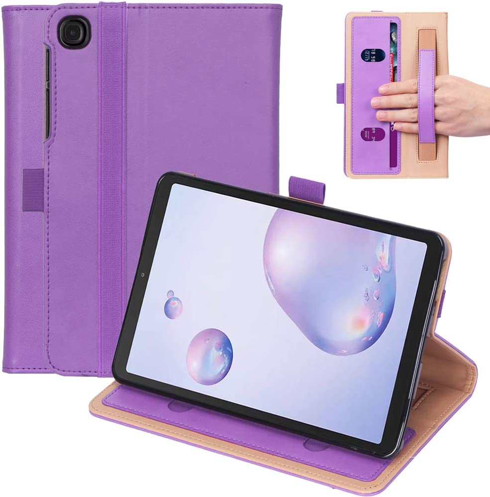"Ratesell Galaxy Tab A 8.4"" (2020) Case, Multi-Angle Business Cover Built in Pocket Hand Strap Compatible with Samsung Galaxy Tab A 8.4 (2020) SM-T307 Purple"