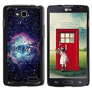Be Good Phone Accessory // Dura Cáscara cubierta Protectora Caso Carcasa Funda de Protección para LG OPTIMUS L90 / D415 // Infinity Space Awe Inspiring