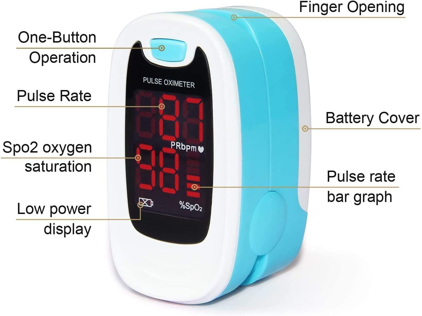 Amazon Com Contec Led Cms50m Pulse Oximeter Spo2 And Pr Value Waveform Blood Oxygen Neck Wrist Cord Health Personal Care