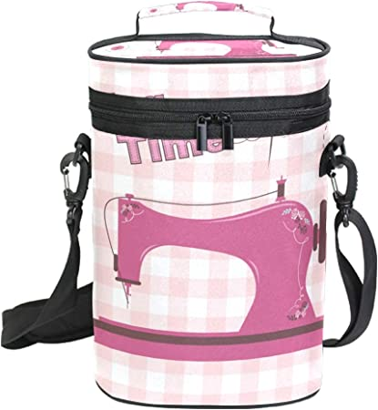DEZIRO Bolsa enfriadora de vino para pícnic, color rosa, vintage ...