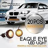 Eagle Eye 18mm 5730SMD High Power LED Fog Light DRL Backup Signal Bulbs - Orange (20 Pieces)