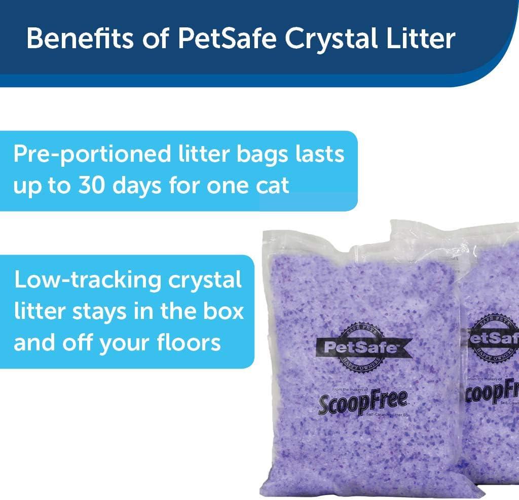 PetSafe ScoopFree Premium Crystal Non Clumping Cat Litter, 2-Pack