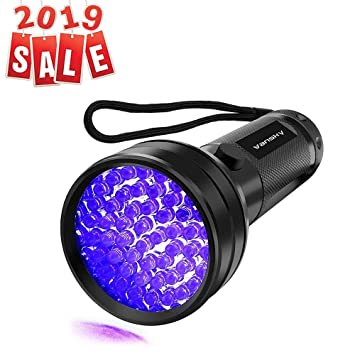 Amazon Com Uv Flashlight Black Light Uv Lights Vansky 51 Led