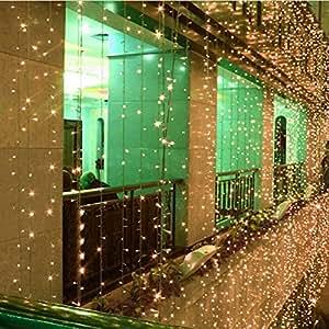 FOME 8 Modes 4M x 4M 512PCS LED Fairy String Light Curtain Light For Outdoor Party Christmas Xmas Wedding (4*4M Warm White) + FOME GIFT, [Importado de UK]