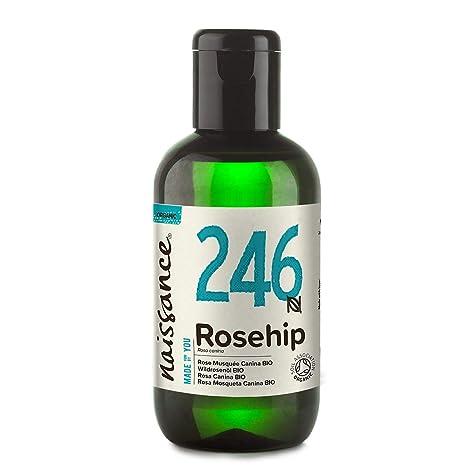 Naissance Aceite Vegetal de Rosa Mosqueta Canina BIO n. º 246 – 100ml - Puro, natural, vegano, certificado ecológico, sin hexano y no OGM - Hidrata y ...