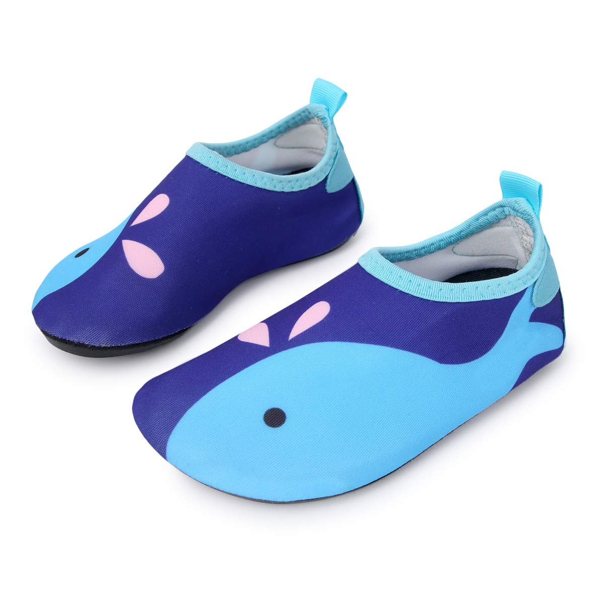 L-RUN Boys Lightweight Water Shoes Soft Quick-Dry Aqua Socks Navy 3-4=EU18-19