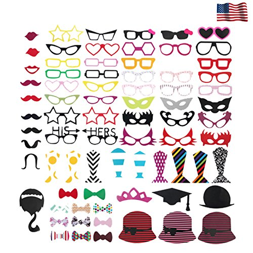 (76X Moustache On A Stick DIY Mask Photo Booth Photobooth for Wedding/Party Prop)
