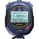 Sports Stopwatch timer 10 60 100 Lap Split Memory Digital Stopwatch, Countdown Timer Pace Mode 12/24 Hour Clock Calendar…