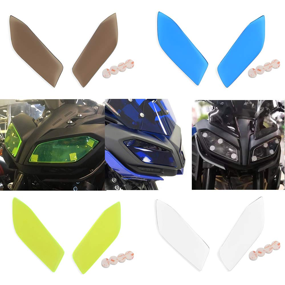 Fatexpress motorcycle plastic front headlight protector lens head lamp cover shield guard for 2017 2019 yamaha mt fz 09 fz09 mt09 mt 09 fz 09 2018 17 19